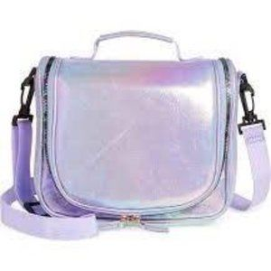 Under One Sky Kids Purple Iridescent Lunch Tote